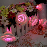 Flower and Bug LED String Lights Pink Rose String Lights
