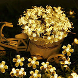 Flower and Bug LED String Lights White Flower String Lights