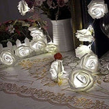 Flower and Bug LED String Lights White Rose String Lights