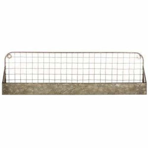 Galvanized Metal Wall Shelf - spirited-gypsy.myshopify.com