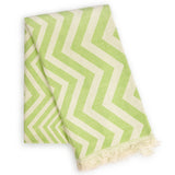 Mersin Eco-friendly Ultra Soft Chevron Towel - Green