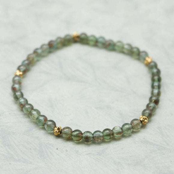Green Apatite Stackable Bracelet - spirited-gypsy.myshopify.com