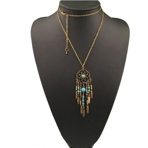 Gypsy Style Dreamcatcher Necklace - spirited-gypsy.myshopify.com