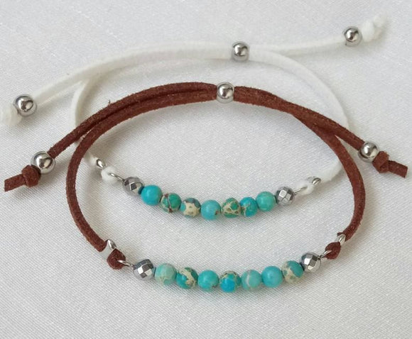 Gypsy Turquoise Beaded Bracelet Jewelry