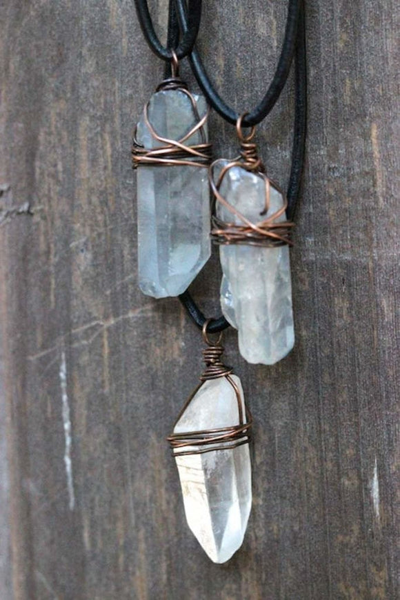 Healing Quartz Crystal Necklace - spirited-gypsy.myshopify.com