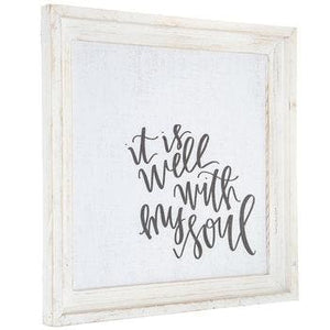 It Is Well With My Soul Wood Wall Decor - spirited-gypsy.myshopify.com