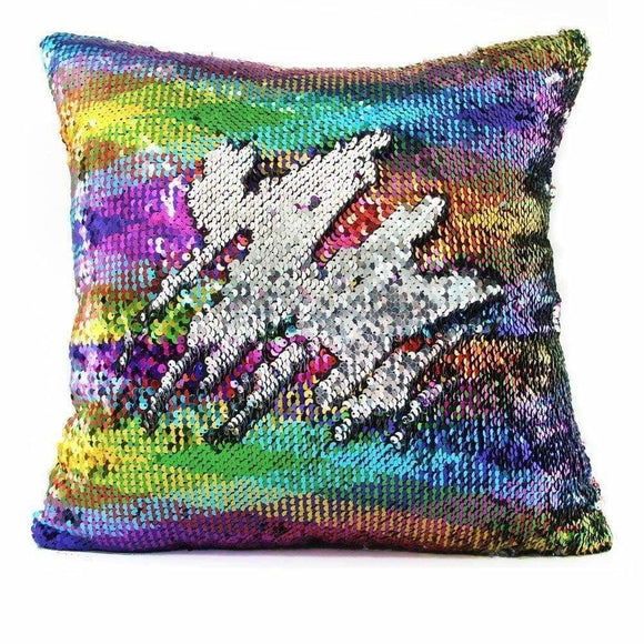 Mermaid Sequin Reversible Pillow Multicolor Pillow