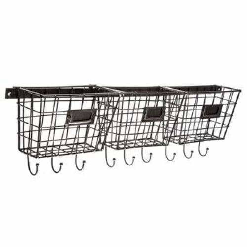 Metal Basket Rack Shelving - spirited-gypsy.myshopify.com