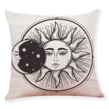 Moon and Sun Decorative Pillow Cover - spirited-gypsy.myshopify.com