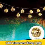 Outdoor Moroccan Orb LED String Lights - spirited-gypsy.myshopify.com