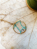 Dream Catcher with Herkimer Diamond & Turquoise