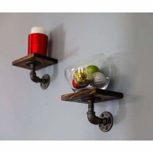 Rustic Wood Pipe Shelves - spirited-gypsy.myshopify.com