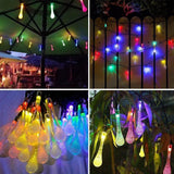 Water Drop Solar Outdoor LED String Lights Lights