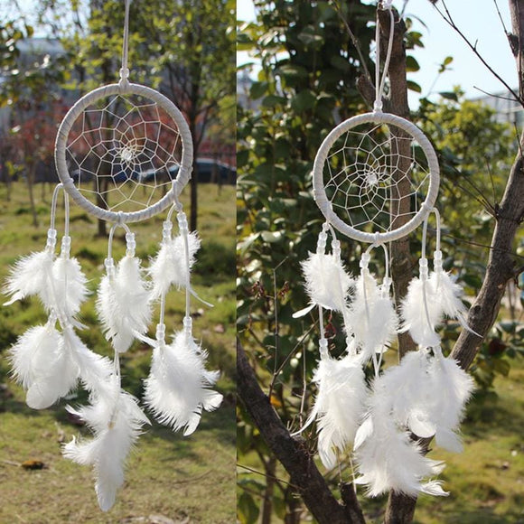 White Feather Dream Catcher - spirited-gypsy.myshopify.com