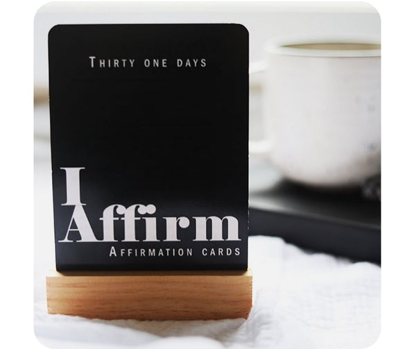Wooden affirmation/quote stand