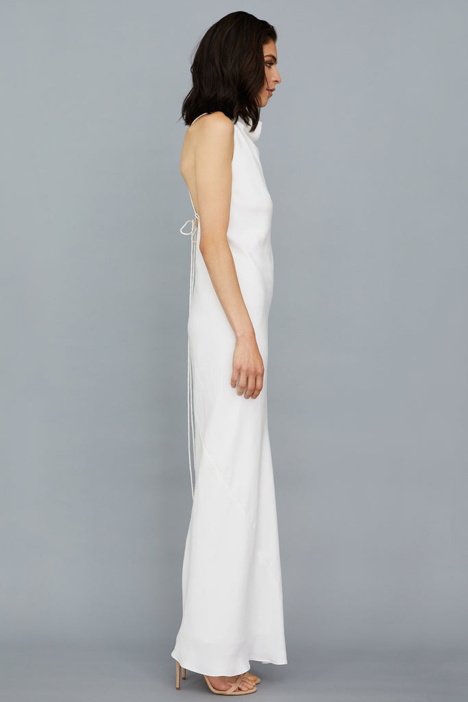 JASMINE DRESS - WHITE CREPE
