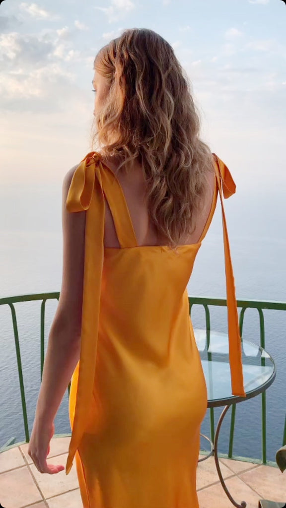 ULYANA DRESS - CLEMENTINE SILK CHARMEUSE