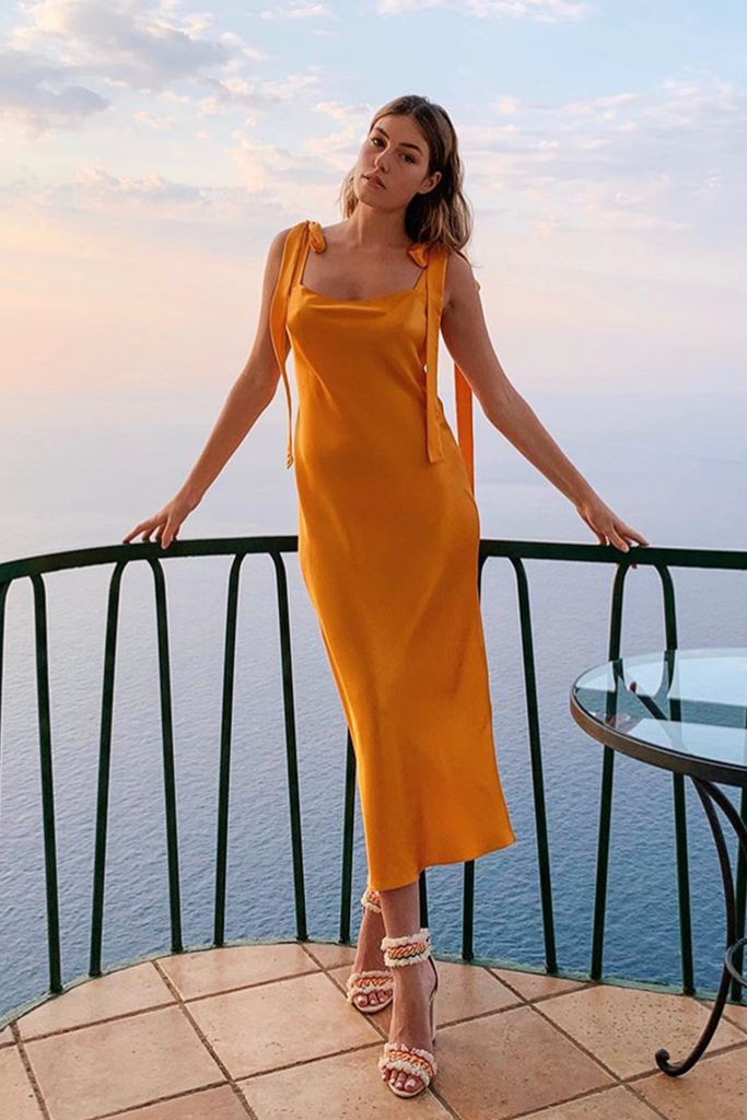 ULYANA DRESS - CLEMENTINE SILK SATIN