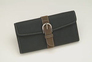 Shisato 8 Scissor Leather Case with Brown Suede Belt