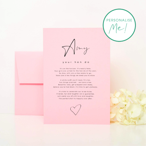 Hen Do Invitation Card