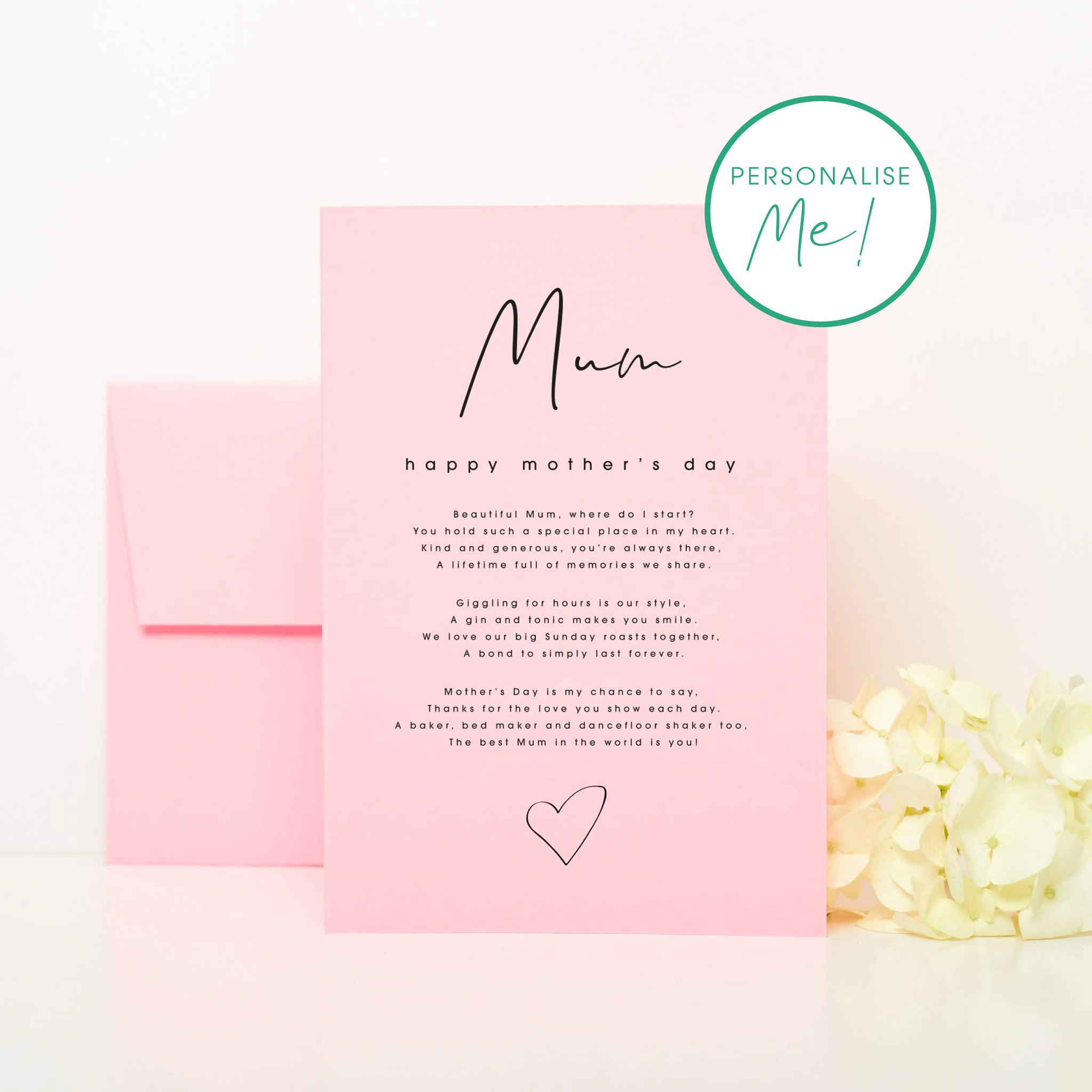 Mother's Day Missing You Card