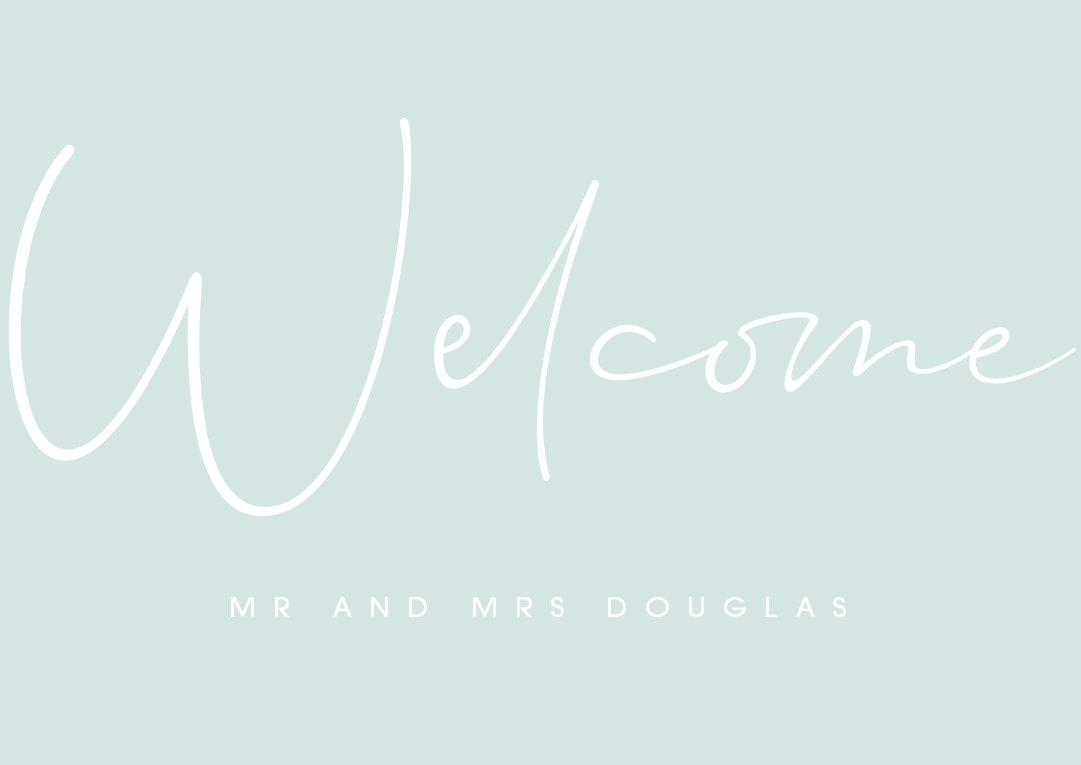 Mint Personalised Welcome Sign
