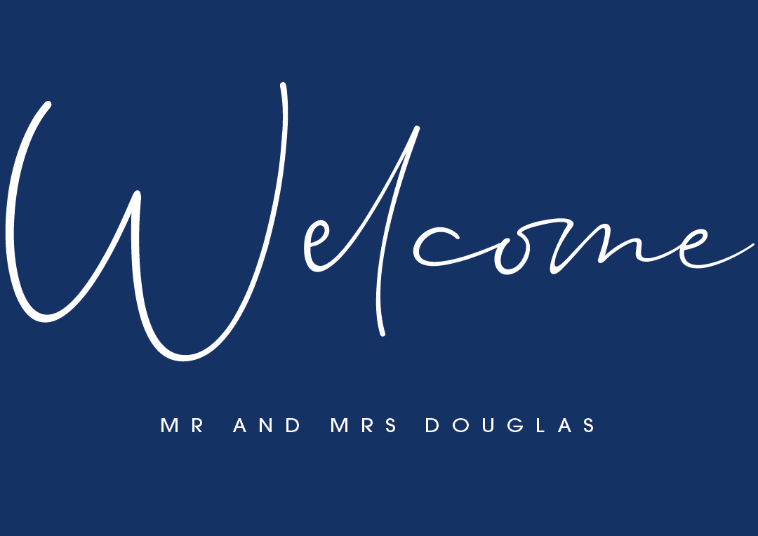 Navy Personalised Welcome Sign