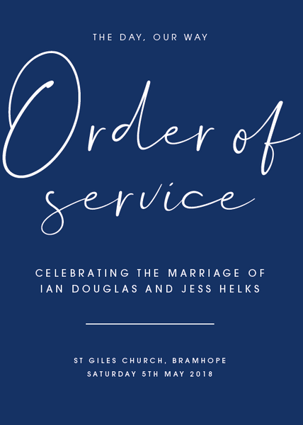 Navy Personalised Order of Service