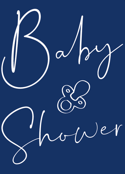 Navy Personalised Baby Shower Poem
