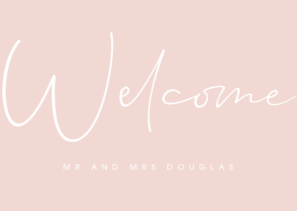 Pink Personalised Welcome Sign