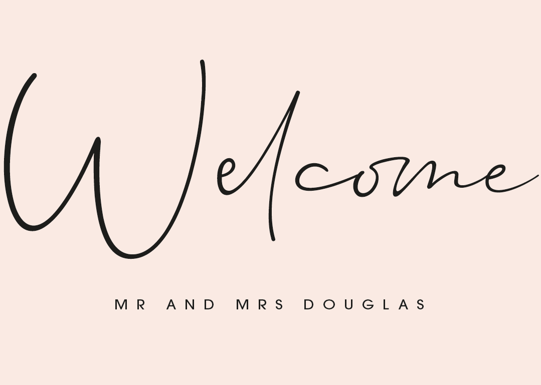 Blush Personalised Welcome Sign