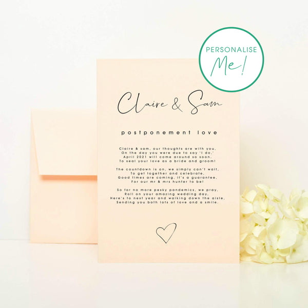 Wedding Postponement Card
