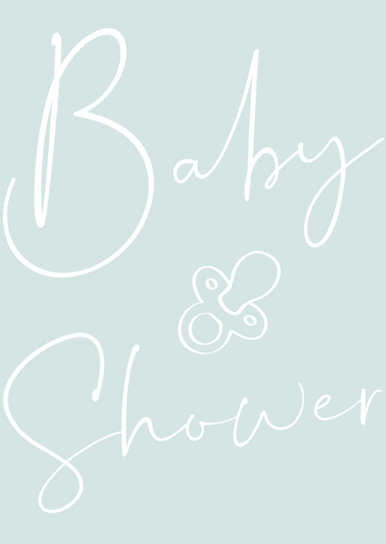 Mint Personalised Baby Shower Poem