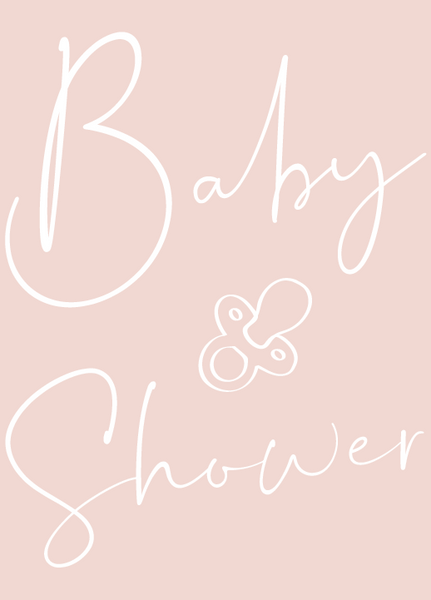 Pink Personalised Baby Shower Poem