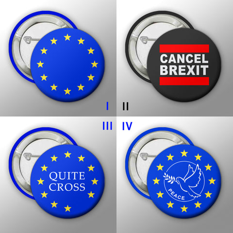 #CancelBrexit Button Badge Collection