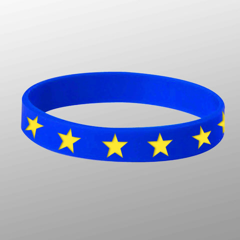 European Union Silicone Wristband