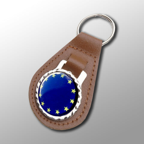 EU Vegan Leather Keyfob