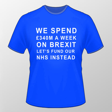 Let's Fund Our NHS T Shirt - BLUE