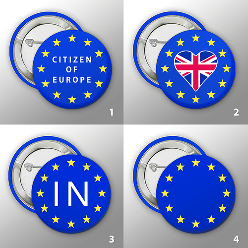 European Union Button Badges Collection