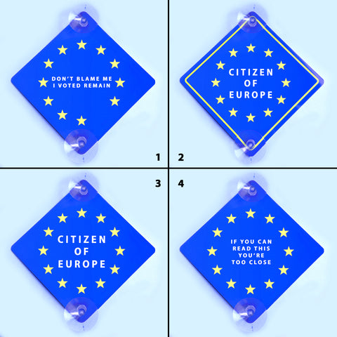European Union Window Sign