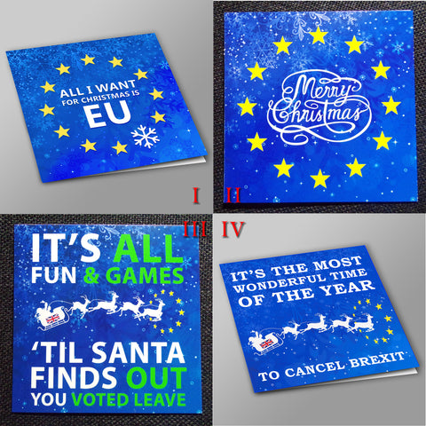 Pro-EU Christmas Cards - Various Designs