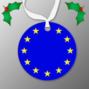 Flag of Europe Christmas Tree Ornaments