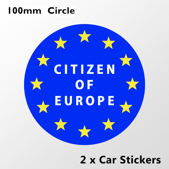 Citizen of Europe Car Stickers