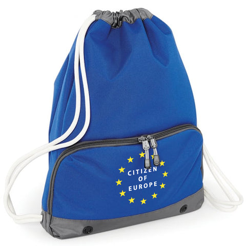 'Citizen of Europe' Pocketed Drawstring Bag