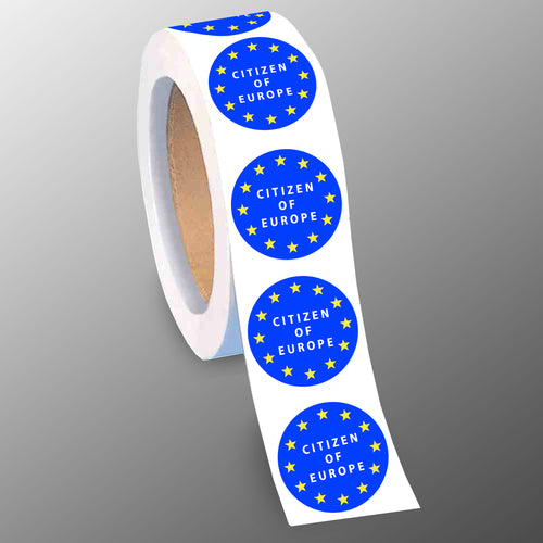 Citizen of Europe 40mm Gloss Paper Stickers