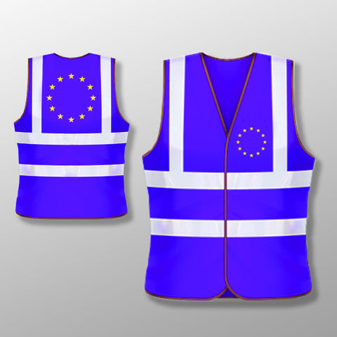 Flag of Europe BLUE High Vis Vest