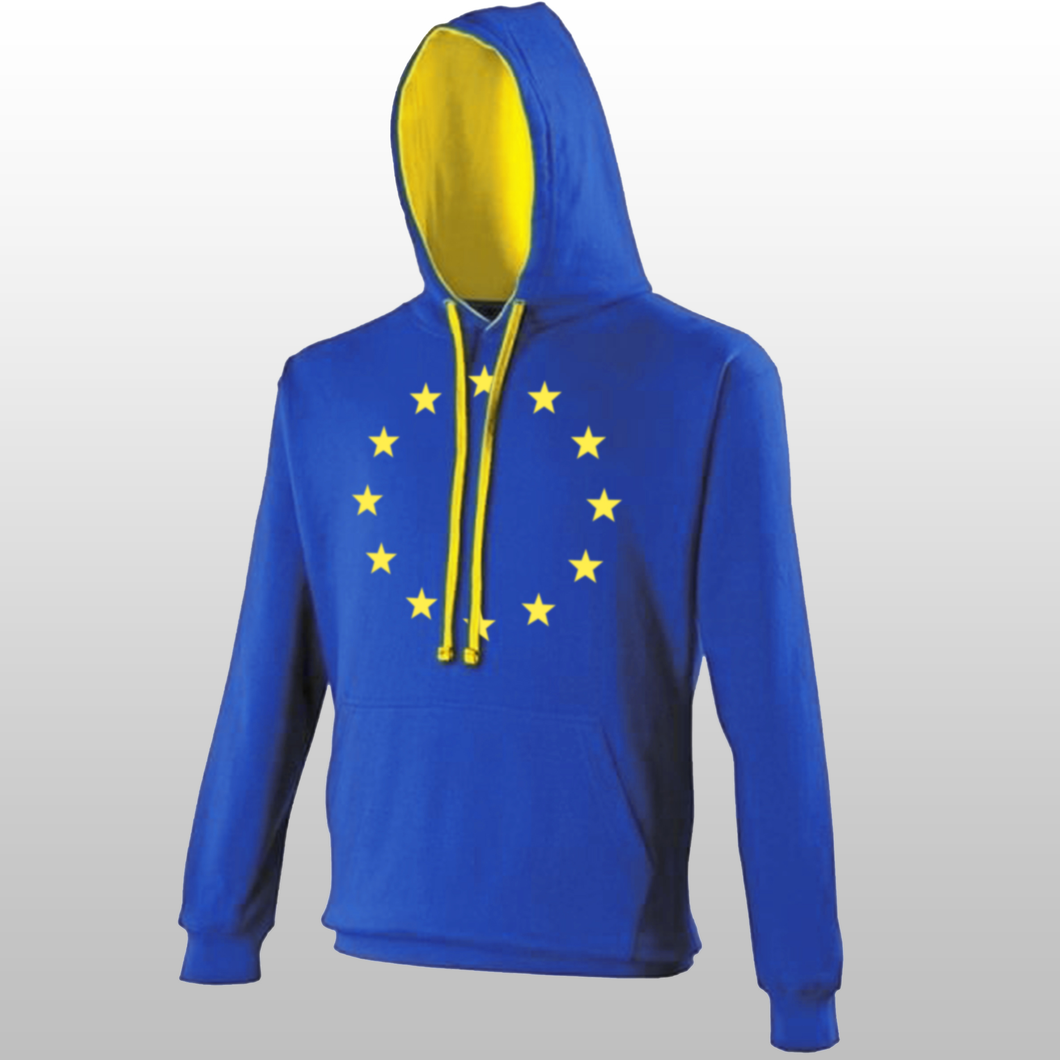 12 Star Flag of Europe Contrast Hoodie