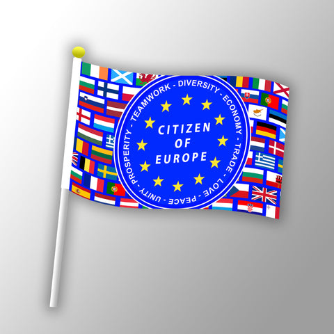 EUnity Hand Flags - 21 cm x 14 cm (Packs)