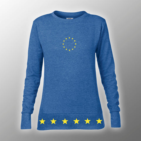 Ladies Heather Blue Fashion Sweatshirt