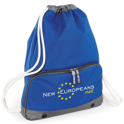 'NEW EUROPEANS' Pocketed Drawstring Bag